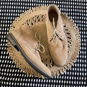 Bruno Marc suede chukka boots tan lace up
